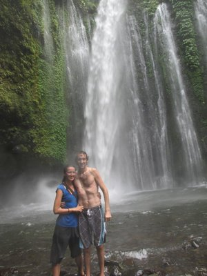 Waterfall in Senaru on Lombok