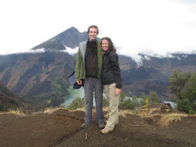 Looking at RInjani's Peak and the volcanic crater lake