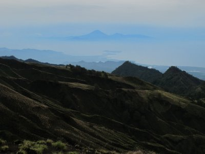 The Gili Islands and Bali from Mount Rinjani's Rim