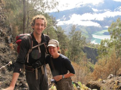 Joanie and Micah at Rinjani