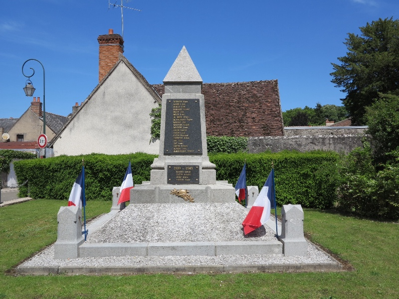 Cheverny -  War Memorial on D Day Anniversary