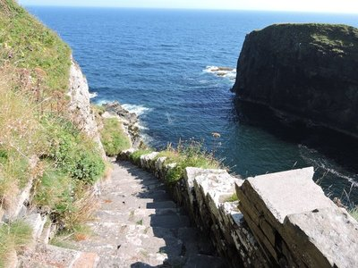 One section of the Whaligoe Steps, Scotland