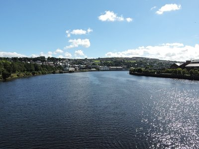 A glorious day in Derry, Northern Ireland
