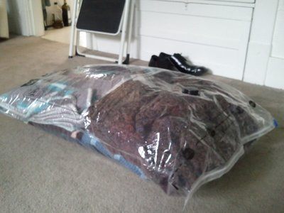 5 Large Blankets Prior to Vacuum Seal