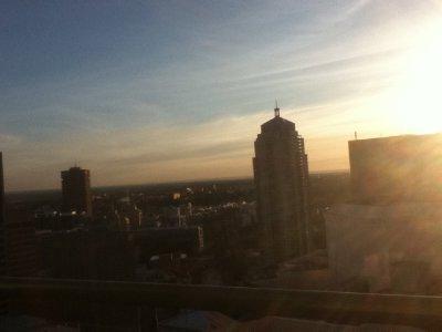 også fra balkongen :P