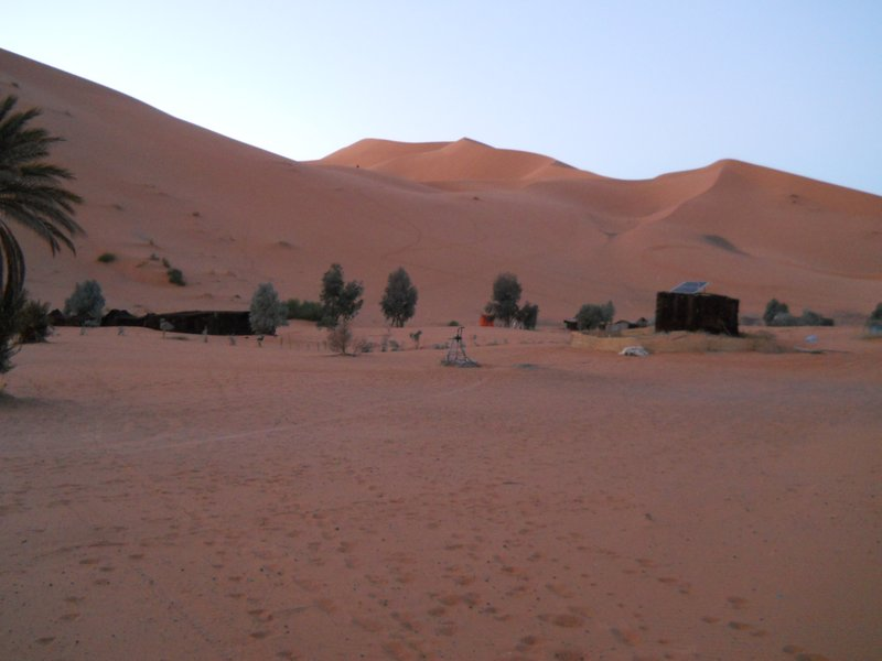 The berber camp where we spent a cozy night under many blankets