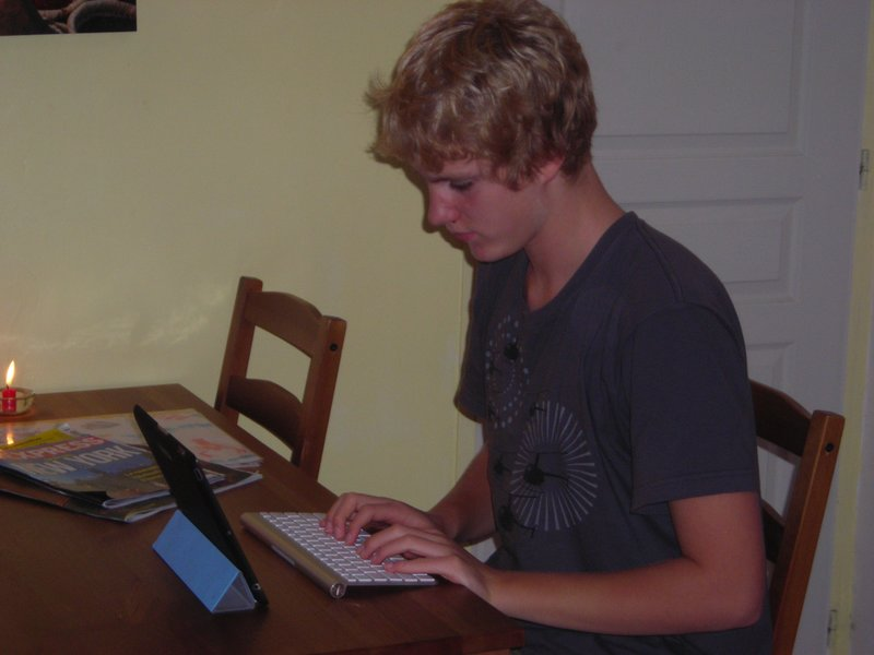 Max is working on chapter 6 of his book.