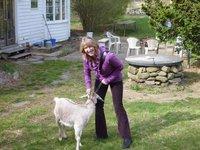 Michelle at the farm