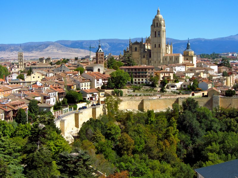View from the castle in Segovia