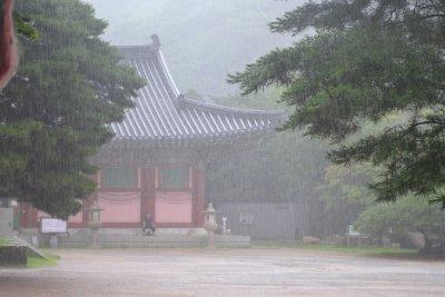 Beomeosa Temple in the Rain
