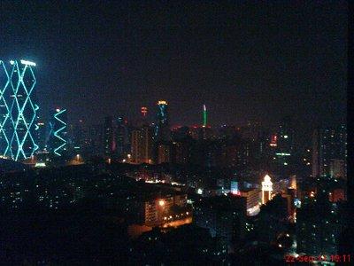 The Shenzhen skyline at night