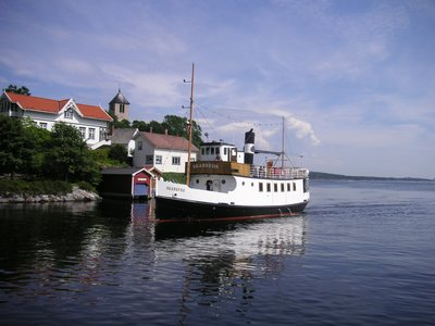 Old ship in Brevik harbour