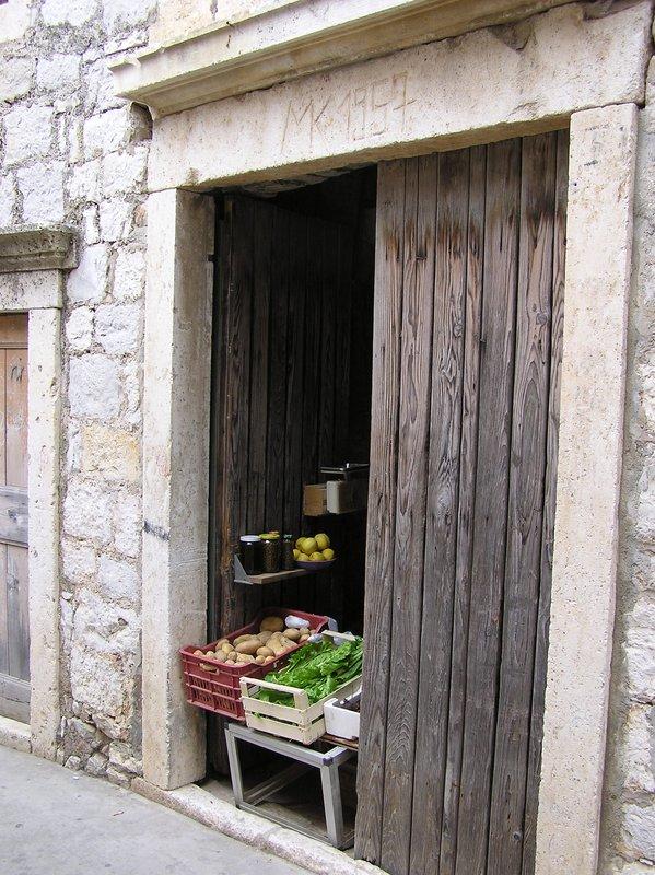 Croatian Door & Veggie Stand
