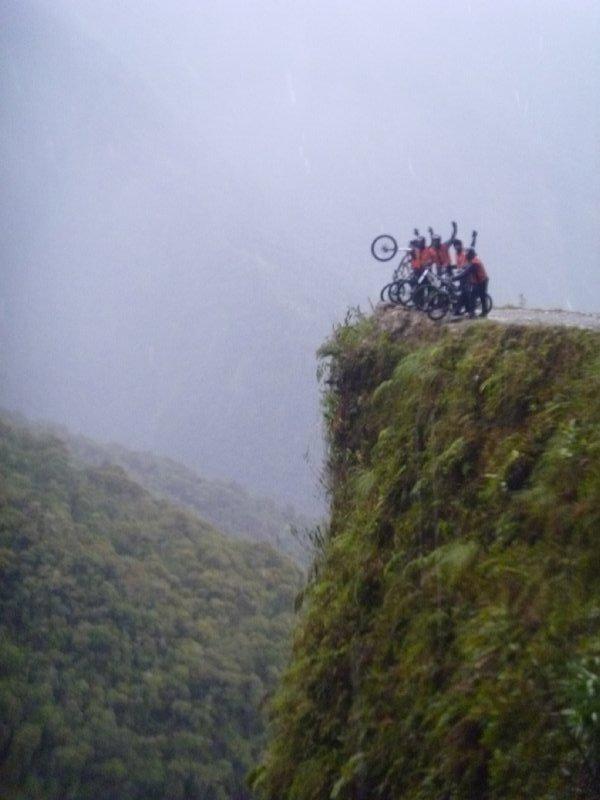 Notre groupe bord de la falaise