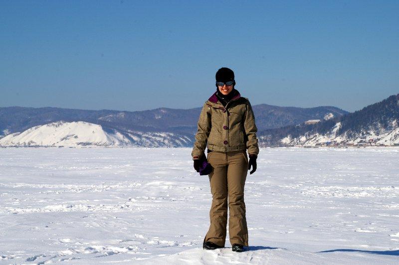 Fiona sur le lac Baikal