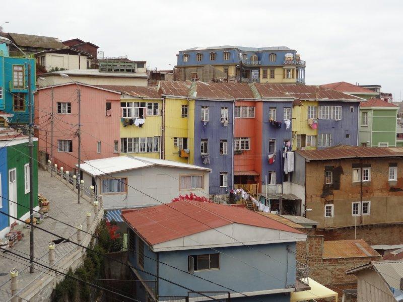 Maison colorée à Valparaiso