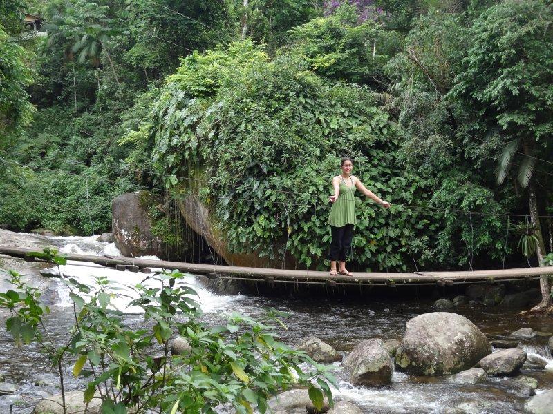Fiona dans la forêt