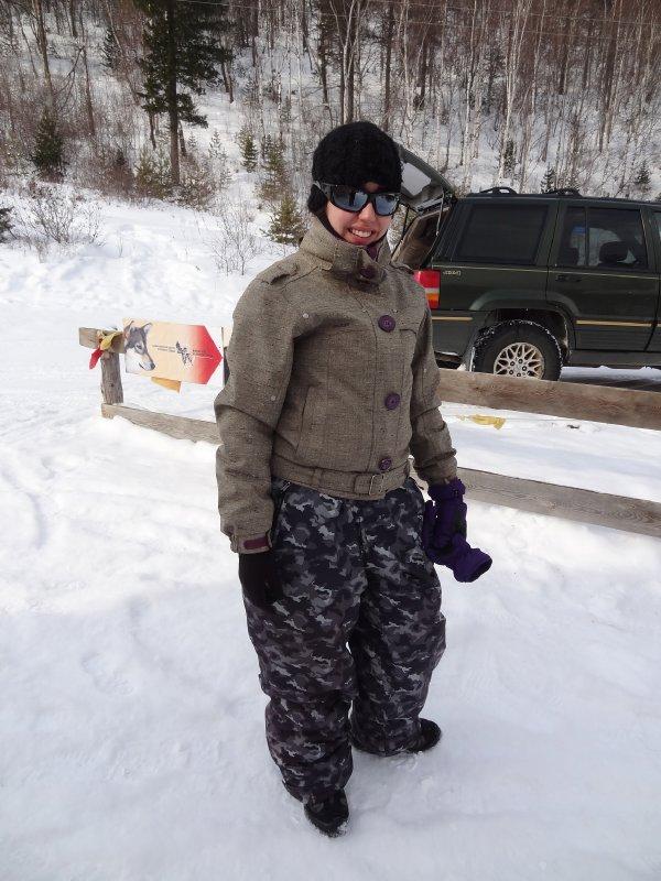 """Fiona en mode """"Warrior"""" prête à affronter le froid de Sibérie"""