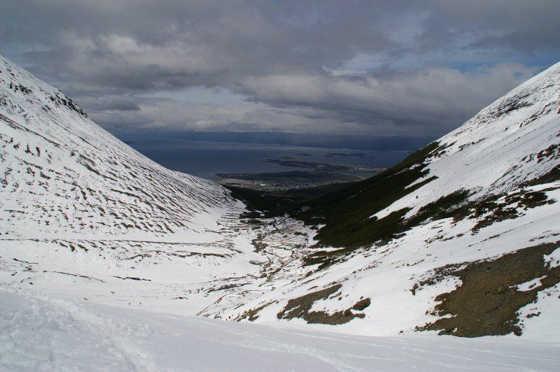 Vu depuis le glacier Martial