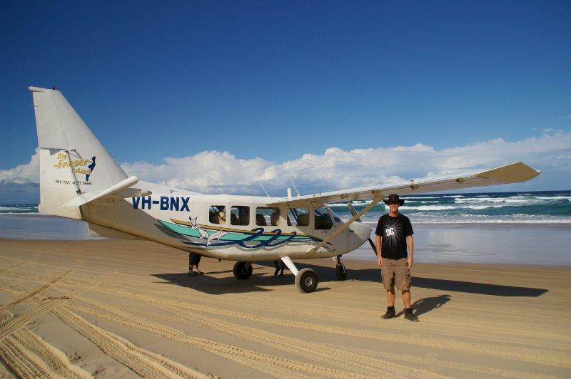 L'avion qui nous à baladé au dessus de Fraser Island