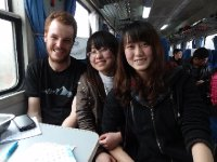Antoine et deux de nos nouvelles copines chinoises