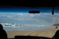 Une Auto-route sur la plage!