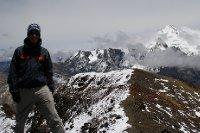 Antoine au sommet. Derière le Huayna Potossi 6088m