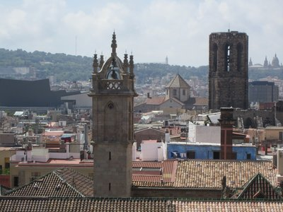 Atop the Barcelona Cathedral