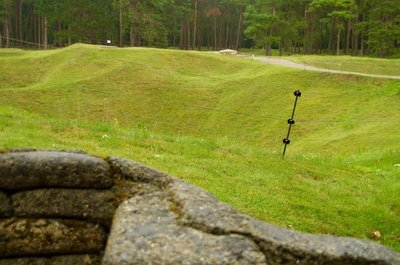 Vimy Ridge Trenches - only 30 odd meters apart.