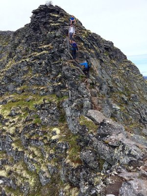 Romsdalseggen Ridge - Another ridge of climbing - Not walking!