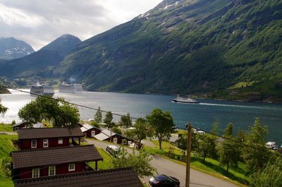 Geirangerfjord from the balcony