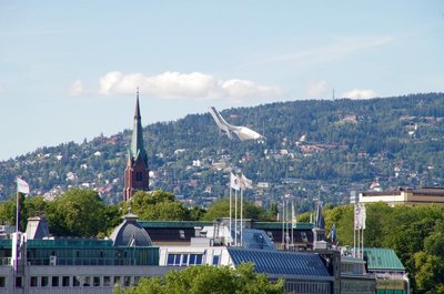 View of the ski jump from Oslo