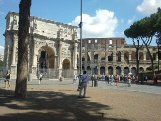 From Forum towards Arch of Constantine & Colosseum