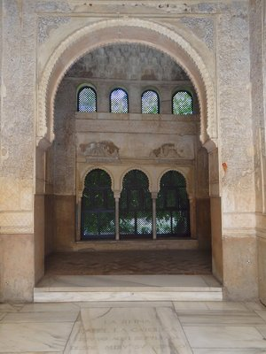 One of the many archways within the Alhambra palace