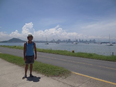 City backdrop to the Panama Canal Harbour - Causeway