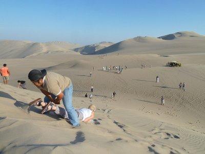 Sand Surfing Practice