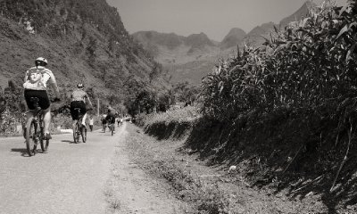 Cycling down the Nho Que Valley, North East Vietnam, 30 September 2012