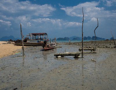 Boat wreckage on Koh Yao Noi