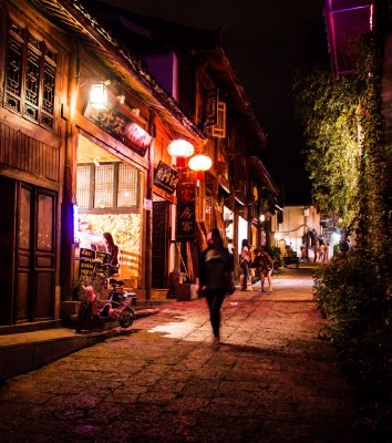Lijiang Old Town at night