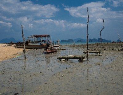 Abandoned boats on Koh Yao Noi