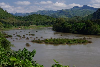 The Nam Ou river, which later joins the Mekong