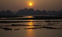 Sunset in Van Long National Park