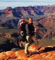 a349 Gaelyn & view NW along S Kaibab trail GRCA NP AZ (584x640)