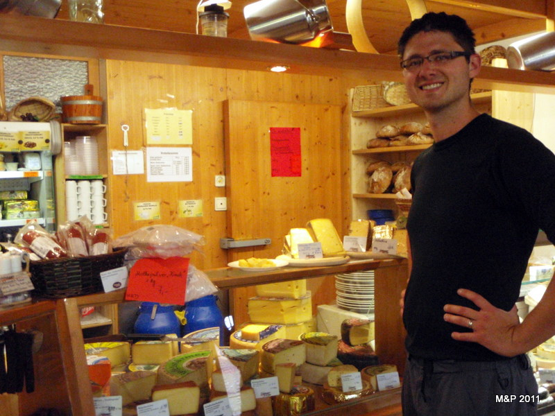 This was a perfect surprise! A cheese and cured meat shop tucked away in the hills along our path. Naturally, we did not resist.