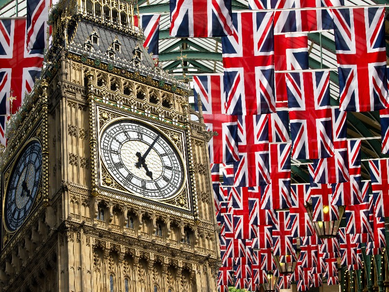 flags and Big Ben