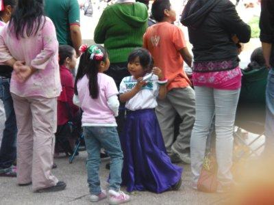 Girls enjoying Indep. day