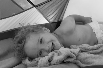 *d smile in tent