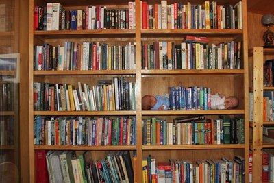 *kids in  bookshelf 2 mo