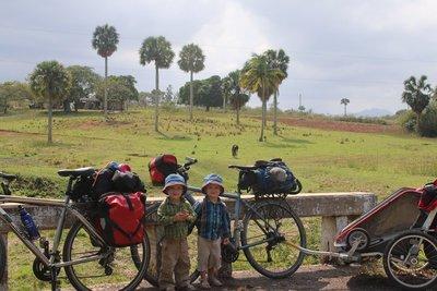 boys bikes scenery