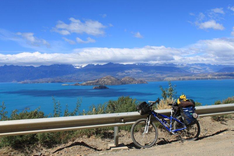 bike next to lake